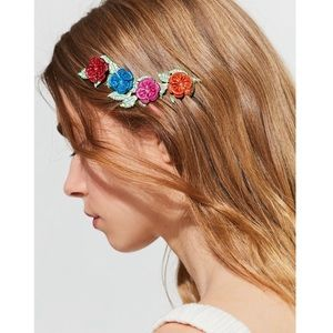Urban Outfitters Painted Floral Halo Headband